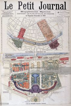 Plan for the Trocadero and Universal Exhibition of 1900, Paris ...