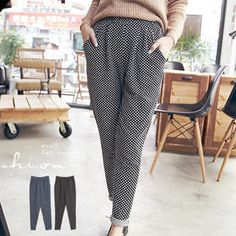 Dotted Baggy Pants - cute!