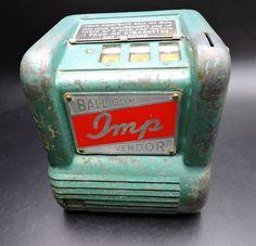 Vending Machine, Slot Machine, Little My, Gumball, Antique Items, Restoration, Coins, Antiques, Man Cave