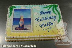 Corona Beer Photo Birthday Cake