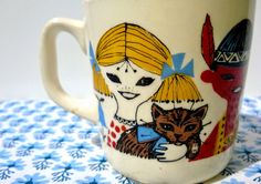 anna's cup of tea: VINTAGE CHILDREN'S TABLEWARE FROM NORWAY