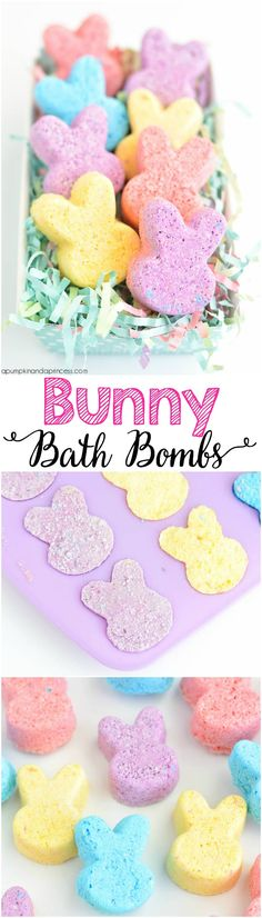 would be cute in exact Peep shape/ DIY Bunny Bath Bombs
