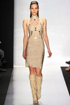 See the complete Hervé Léger by Max Azria Fall 2011 Ready-to-Wear collection.