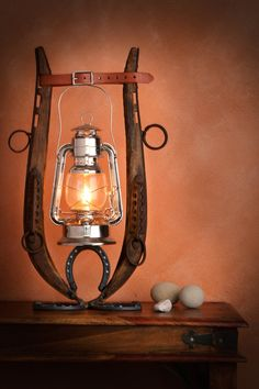 Horse Hames and Horse Shoes Oil Lantern by FitzMunozStudio on Etsy
