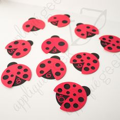 Ladybug Counting Game-SVG/Printable PDF INSTANT DOWNLOAD for Silhouette projects, Cricut projects, and Brother ScanNCut projects from Designed by Geeks  Teach your littles to count by counting the spots on the ladybugs! Includes numbers 1 through 10.