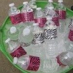 Use patterned duck tape on water bottles