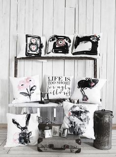 Girly cushion collection by Sara Woodrow | 79 Ideas