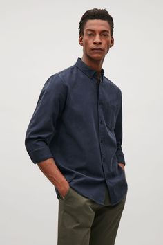 COS image 25 of Button collar shirt in Sapphire