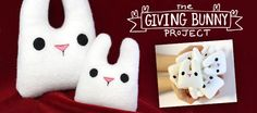 This is awesome!  Make simple, cute bunnies (free pattern and tutorial) and leave them in public places where they can surprise someone and brighten up their day!!