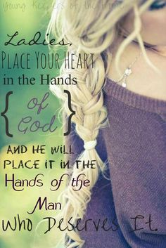 Placing my heart in the hands of God...