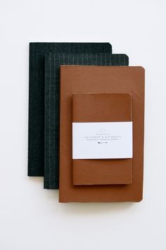 New leather and wool covered notebooks