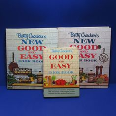 3 Betty Crocker New Good & Easy Cookbook Spiral 1954 1962 Vintage Hardcover  #ebayROCteam