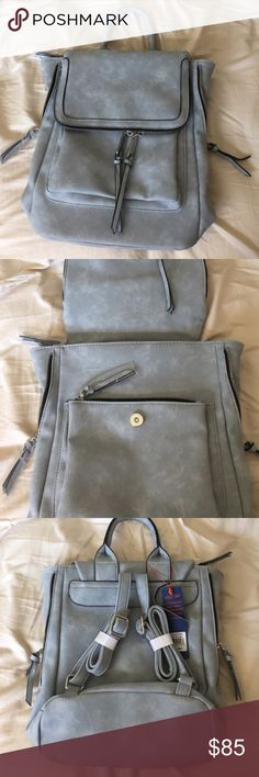 Free People Kendall backpack Free People brand Violet Ray Kendall backpack in light blue. Brand new. Free People Bags Backpacks