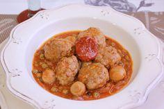 Albóndigas de ternera con tomate seco y salsa especiada http://www.thespanishfood.es/2013/04/albondigas-de-ternera-con-tomate-seco-y.html