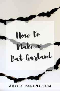 This DIY bat garland is one of our favorite Halloween decorations. It's simple to make, and looks great inside on the wall or outside on the front porch! DIY garlands for kids | halloween decorations | DIY halloween decorations | kids halloween crafts | halloween arts and crafts for kids #kidsart #halloweencrafts Halloween Arts And Crafts, Halloween Decorations For Kids, Halloween Kids, Easy Art For Kids, Diy Garland, Garlands, Fun Activities For Kids, Simple Art, Front Porch
