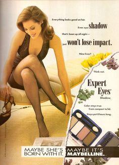 1993 Maybelline Cosmetics Christy Turlington Print Ad Vintage Advertisement 90s   eBay