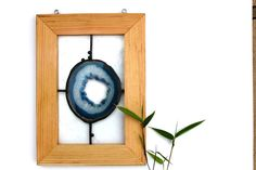 Blue Agate Stained Glass Panel by OCEANSOMIND on Etsy, $110.00