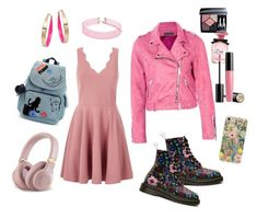 """""""Girlie"""" by lily-lovejoy on Polyvore featuring мода, Kipling, Boohoo, RIFLE, Design Lab, Forever 21, Dolce&Gabbana, Lancôme и Christian Dior"""