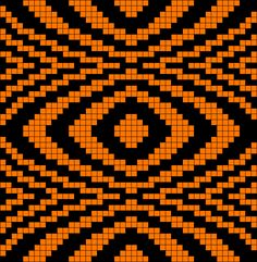 Artwork by at Grid Paint. Crochet Pattern Free, Tapestry Crochet Patterns, Crochet Chart, Mosaic Patterns, Loom Patterns, Beading Patterns, Cross Stitch Patterns, Quilt Patterns, Plastic Canvas Crafts