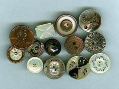 12 Beautiful Victorian Pearl Buttons