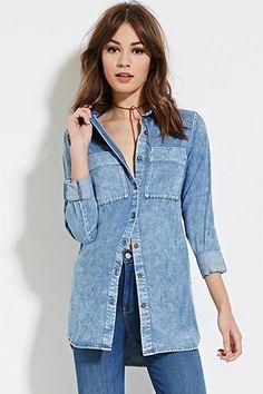 Denim Shirt Dress | Forever 21 - 2000184828