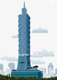 Vector taipei 101 PNG and Vector City Wallpaper, Mobile Wallpaper, Taipei 101, City Vector, Treasure Island, Brand Identity Design, Clipart Images, Amazing Architecture, Places Around The World