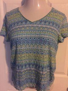 J.Jill Women's Medium Short Sleeve Shirt  #JJill #Blouse #Versatile