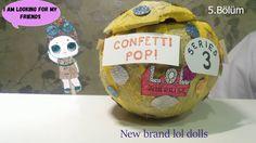Türkiye'de ilk | Lol Surprise Confetti Pop | 3. Seri Lol Bebek (kendi ya...