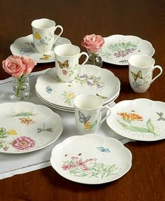 My china set for my dining room. Lenox, Butterfly Meadow
