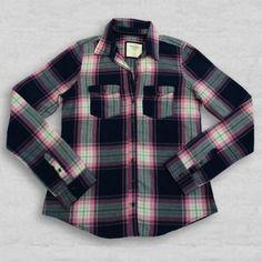 Camisa xadrez azul marinho e verde - Abercrombie & Fitch