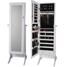 Have to have it Belham Living Swivel Cheval Jewelry Armoire White
