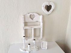 shabby chic mirror shelf picture frame and by MySugarBlossom, $33.00