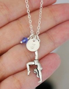 Gymnast Necklace, Gymnastics Necklace, Personalized, Gymnastics Gifts for Girls, Gymnastics Birthday Party Gift, Gymnast charm jewelry on Etsy, $22.95