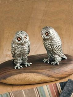 Cast pewter?  Made in America?  Yes, please...Owl Salt And Pepper Shakers