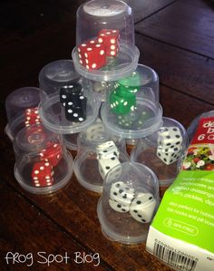 Tired of students dice rolling off the table or hearing that loud clanking noise of dice hitting the floor? Try this easy solution.