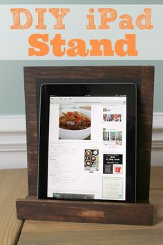 DIY chalkboard & iPad stand ...perfect for the kitchen!