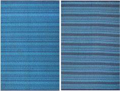 Vintage Double Sided Blue Swedish Kilim 48278 Thumbnail - By Nazmiyal