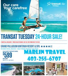 A special for the Grand Palladium Kantenah in the Mayan Riviera.  Flash sale valid 30Jul13 for September travel.