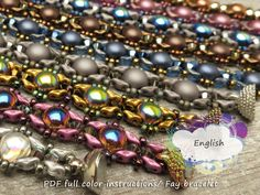 PDF full color instructions/ Fay bracelet by Un-Roen Manarata