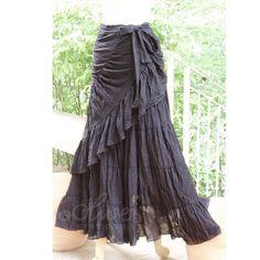 30 OFF Summer Sale  Tie Waist Cotton Maxi Wrap Skirt por oOlives, $46.00