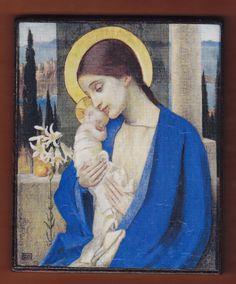 Virgin MaryMarianne Strokes La Madonna col by teogonia on Etsy