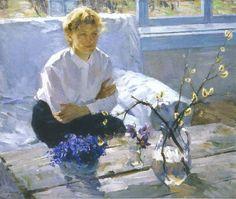 JacquesBonhomme — salantami: Tokarev V. Albrecht Durer Praying Hands, Soviet Art, Cool Artwork, Amazing Artwork, Classical Music, Figurative Art, Impressionism, Female Art, Oil On Canvas