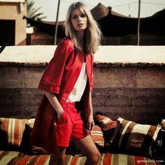 Julia Stegner for Escada Spring/Summer 2014 Campaign - http://qpmodels.com/european-models/julia-stegner/6547-julia-stegner-for-escada-spring-summer-2014-campaign.html
