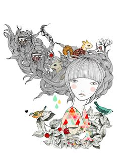Image of Print Ardilla illustrations by Lady Desidia
