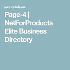 Page-4   NetForProducts Elite Business Directory