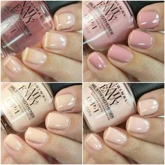 OPI combined the amazing strengthening power of the Nail Envy with the most beautiful soft shades to create. Clear Gel Nails, Opi Nail Envy, Opi Nail Colors, Cute Makeup, Perfect Nails, Mani Pedi, Natural Nails, Nails Inspiration, Cute Nails