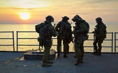 Sunset with Formoza's operators. JW Formoza is the Polish Navy Special Forces Unit.