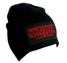 Stranger Things Beanie Alternative Style Clothing Knit Cap Supernatural Horror Sci Fi