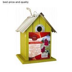 Deluxe Bird Nesting Box With Hanging Loop - Wild & Garden Fir Wood Wooden Nest