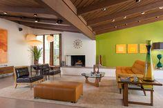 Midcentury Living Room ©Scott Basile Photography